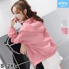 【V3375】shiny藍格子-簡單素面...