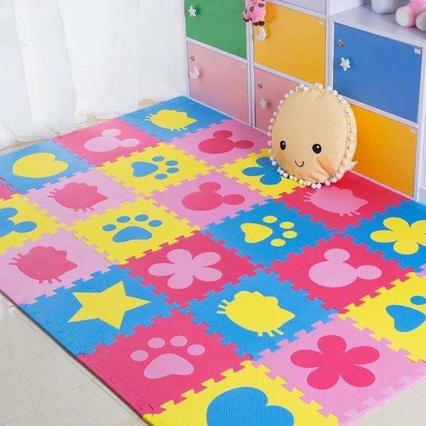 ★兒童臥室拼接爬行墊拼圖地板墊子加厚寶寶爬爬墊泡沫地墊榻榻米