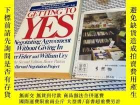 二手書博民逛書店英文原版罕見getting to yes : negotiati