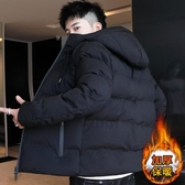 外套棉衣男士冬季外套新款冬季短款羽絨棉服潮流連帽冬裝保暖棉襖
