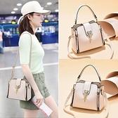 小包包女包2021新款潮時尚百搭軟皮手提水桶包ins女士單肩斜挎包