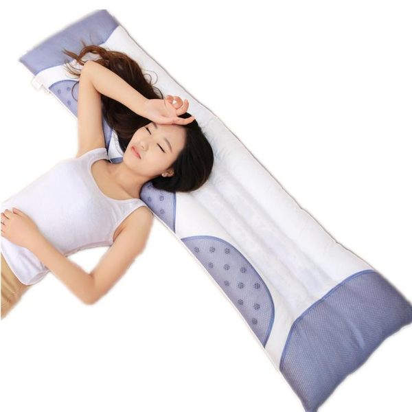 情侶磁石1.2雙人護頸長枕頭1.5婚慶長枕芯1.8米    晴光小語