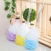 洗澡刷沐浴球沐浴刷 長柄起泡球擦背刷 搓背刷大號泡沫細膩沐浴花  朵拉朵衣櫥