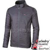 EasyMain 衣力美 CE18095-79碳黑 男動態保暖防風外套 Polartec防寒輕量/戶外機能夾克/運動風衣*