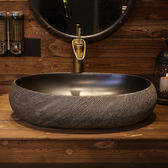 台上盆 陶瓷艺术台上盆 中式创意洗手盆面盆家用卫生间复古洗脸盆 夢藝家