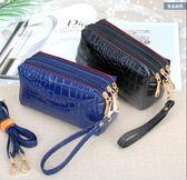 斜挎包夏季新款三層拉鏈手拿時尚小方包 JD4381【KIKIKOKO】