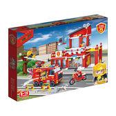 新消防系列 NO.7101消防分駐所 附拔釘器 大盒【BanBao邦寶積木楚崴】