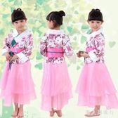 中大尺碼兒童和服 舞蹈服女童日本幼兒演出服裝少兒民族表演服傳統禮服 DR10013【男人與流行】