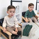 辰辰媽嬰童裝1歲男寶寶春裝文藝范圓領麻棉襯衣2-3歲小童長袖襯衫夢想巴士