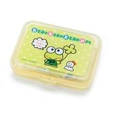 〔小禮堂〕大眼蛙 日製造型貼紙組附盒《黃.點點》40枚入.裝飾貼.黏貼用品 4901610-03768