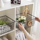 鐵藝收納籃廚房零食收納筐玩具籃子衣櫃衣物整理收納框 新年特惠