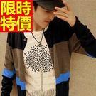 針織外套別緻大方-日系羊毛長袖開襟男針織衫2色57ae8【巴黎精品】
