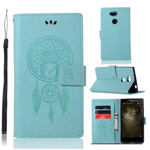 SONY L2 XZ2 XZ1 XZ1 Compact XZ Premium 貓頭鷹風鈴 手機皮套 插卡 支架 掛繩 皮套 內軟殼