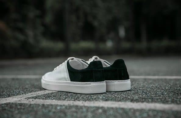 找到自己 MD 日系 高品質 時尚 潮 男 黑白色拼接 真皮 綁帶 低跟休閒鞋 板鞋