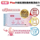 (2箱24入)芊柔+ Plus升級版清除腸病毒濕紙巾 80抽 可清潔肌膚.手.口.臉