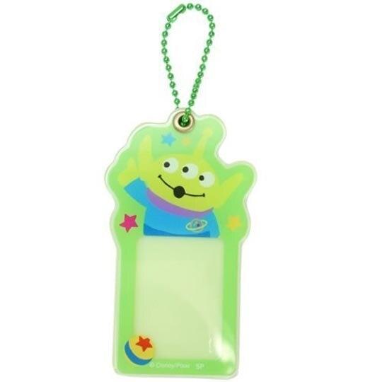 小禮堂 迪士尼 三眼怪 造型壓克力相片吊飾 相框鑰匙圈 相片吊飾 (綠藍 大臉) 4548626-12699