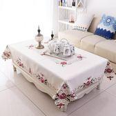 歐洲站旗艦茶幾桌布布藝歐式長方形台布客廳茶幾墊正方形田園小清 解憂雜貨鋪