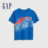 Gap男幼棉質舒適圓領短袖T恤545893-藍色