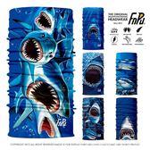3D印花金槍魚頭鯊魚群旗魚面罩多用街舞戶外釣魚防曬頭巾防曬圍巾【韓衣舍】