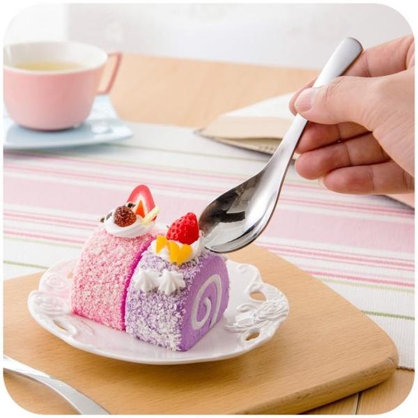 [超豐國際]創意加厚不銹鋼長柄大湯勺調羹家用兒童甜品圓頭小勺子湯匙