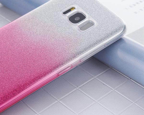 閃粉漸層 三星 Galaxy S8 手機殼 S8 Plus S8+保護套 漸變 軟殼 透明殼 矽膠套 防摔 全包丨麥麥3C