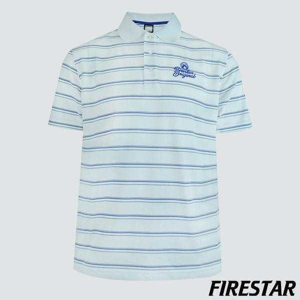 FIRESTAR-男性吸濕排汗POLO衫-白 D3758-20