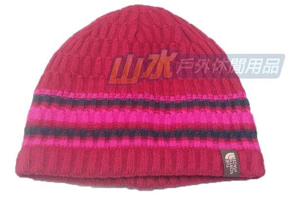 【山水網路商城】The North Face TNF 編織保暖帽 保暖帽/毛線帽/休閒帽/編織帽/刷毛帽 A6V7 紫紅