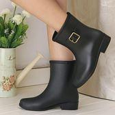 店長推薦▶時尚中筒女雨鞋女 水鞋防滑保暖兩用雨靴膠鞋套鞋