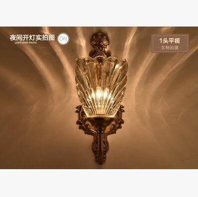 美術燈 壁燈現代簡約LED床頭燈臥室創意歐式美式客廳樓梯過道-不含光源(8603-單頭)