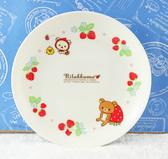 【震撼精品百貨】Rilakkuma San-X 拉拉熊懶懶熊~盤子/餐盤-草莓#50283