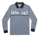 KAPPA義大利型男吸濕排汗速乾 POLO 長袖衫 灰 351382W-411