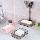 肥皂盒 虎騎士創意免打孔雙層瀝水皂盒家用吸壁式多層塑料肥皂架【快速出貨八折下殺】
