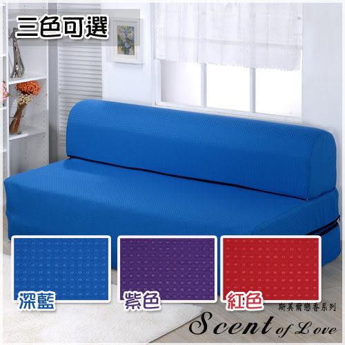 《家購網寢俱館【戀香】折疊式彈簧沙發床-單人3尺 (3色可選)