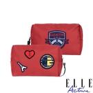 背包族【ELLE Active】巴黎遊記系列-化妝包-紅色
