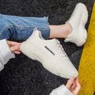 運動鞋 顯腳小輕便老爹鞋女超火2020夏季新款網紅厚底休閒百搭白色運動鞋