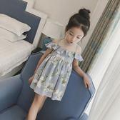 女童夏裝洋裝2018新款女孩洋氣吊帶裙子LJ7607『小美日記』