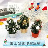桌上型迷你聖誕樹 耶誕節 聖誕節 賣場佈置 節慶用品 擺件 擺飾 聖誕擺飾【葉子小舖】