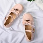 洛麗塔ins小皮鞋女新款日系可愛淺口蕾絲蝴蝶結軟妹娃娃鞋