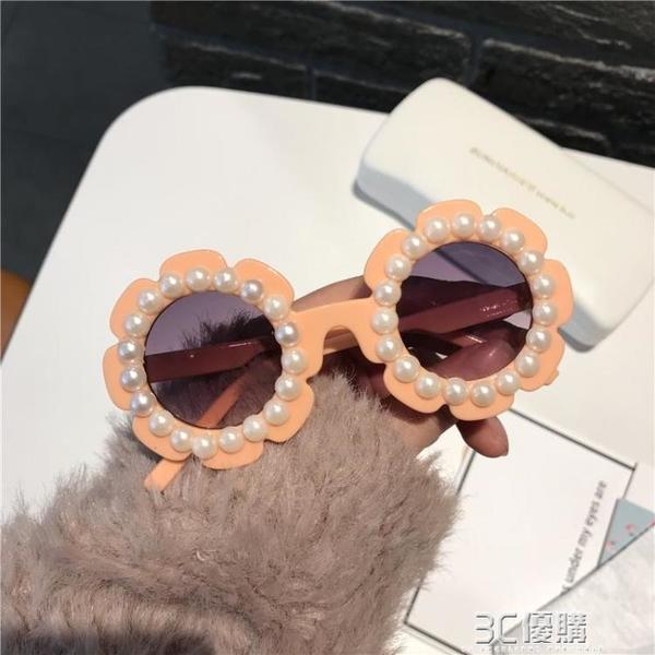 珍珠2021寶寶眼鏡太陽鏡男女童防紫外線夏天時尚女寶搭配兒童墨鏡 3C優購