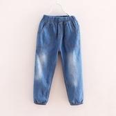 夏季款女童薄款棉牛仔褲寬鬆長褲寶寶小孩褲子柔軟