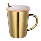 雙層隔熱304不鏽鋼水杯子帶蓋家用有手柄啤酒杯咖啡杯馬克杯防摔