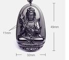 【找到自己】黑曜石 天然 項鍊 神像 守護神 項鍊