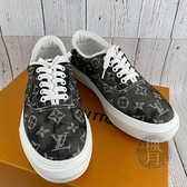BRAND楓月 LOUIS VUITTON LV 1A5AV3 黑色 灰色 特殊染色 原花 版鞋 帆布鞋 美規#7