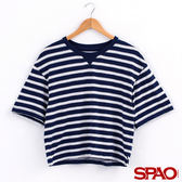 SPAO女款寬袖條紋T恤