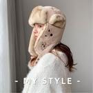 雷鋒帽男女秋冬季情侶東北戶外加厚保暖滑雪帽【英賽德3C數碼館】