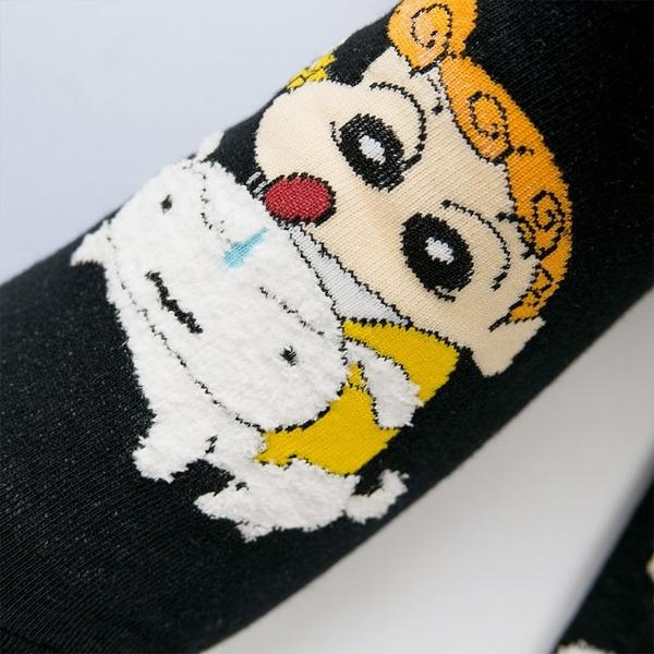 正韓直送 韓國襪子 蠟筆小新立體小白短襪【K0688】韓妞必備 百搭基本款 素色長襪 阿華有事嗎