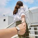 滿天星情侶手錶一對2020年新款女士男學生簡約氣質時尚防水滿鑚錶 一米陽光
