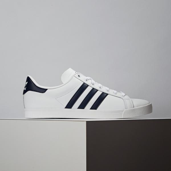 Adidas Coast Star 男款 白藍 經典 復古 百搭 皮革 舒適 休閒鞋 EE9950