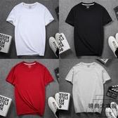 4件】短袖t恤男加肥加大碼純棉圓領男半袖上衣打底衫【時尚大衣櫥】