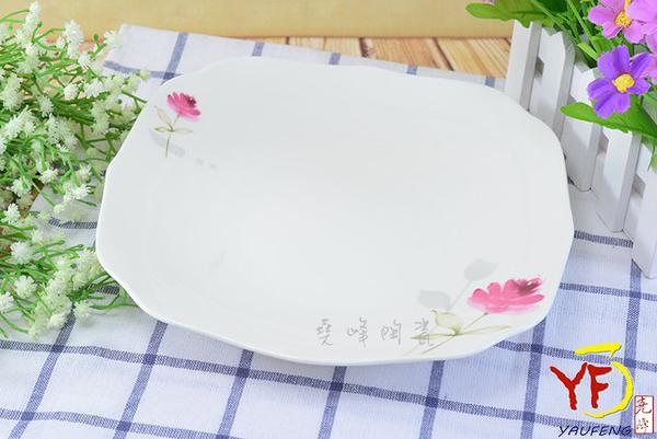 餐桌系列 骨瓷 情定一生 8.5吋花邊四角湯盤 深盤/方盤 | 新婚贈禮首選 | 新居落成禮 | 現貨